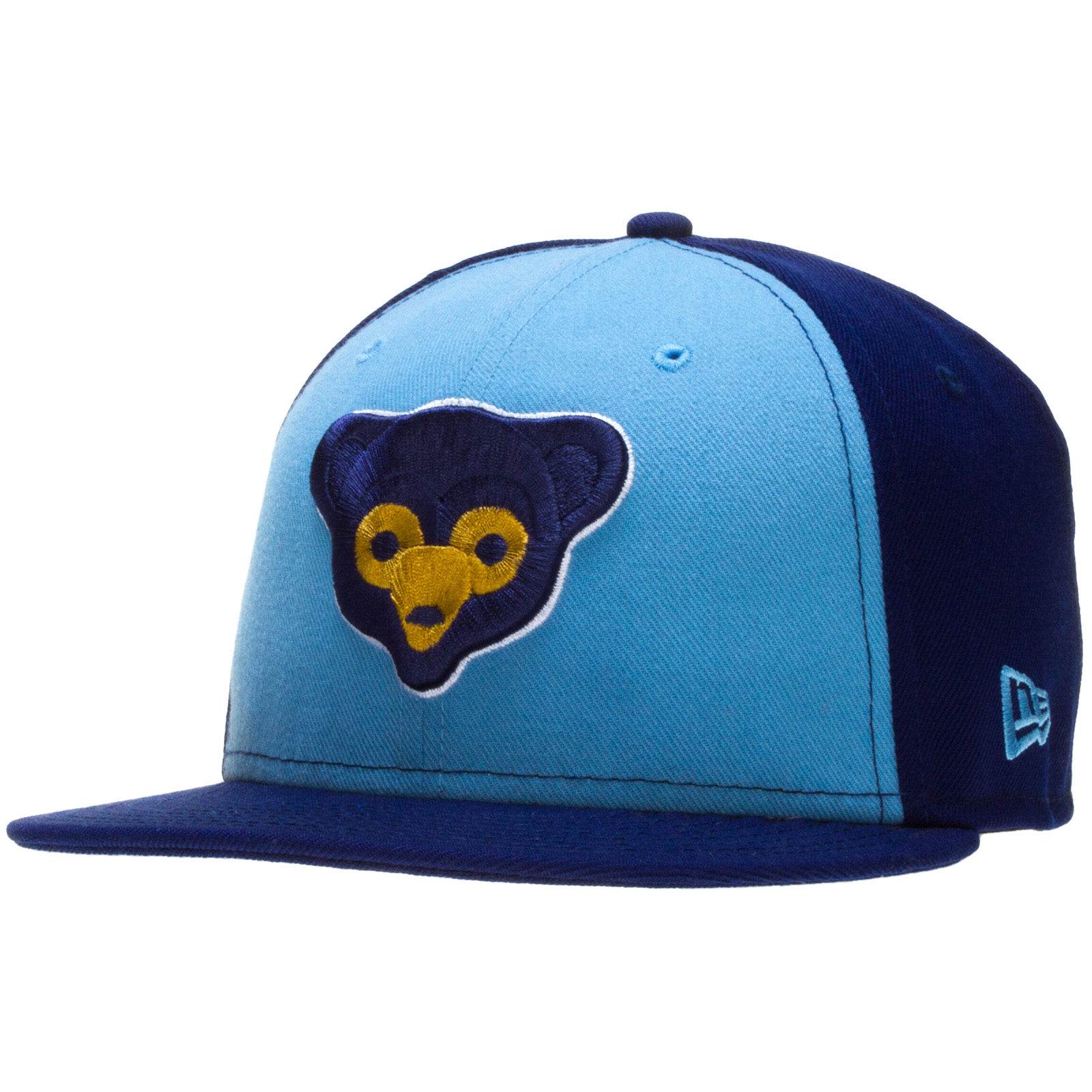 Chicago Cubs Fitted Royal and Columbia Blue 1969 Logo Flat . 794a1eb984d