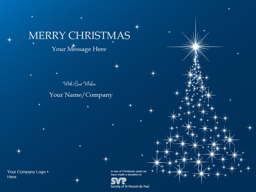 Business christmas cards with logos corporate ecards st vincent de paul reheart Gallery