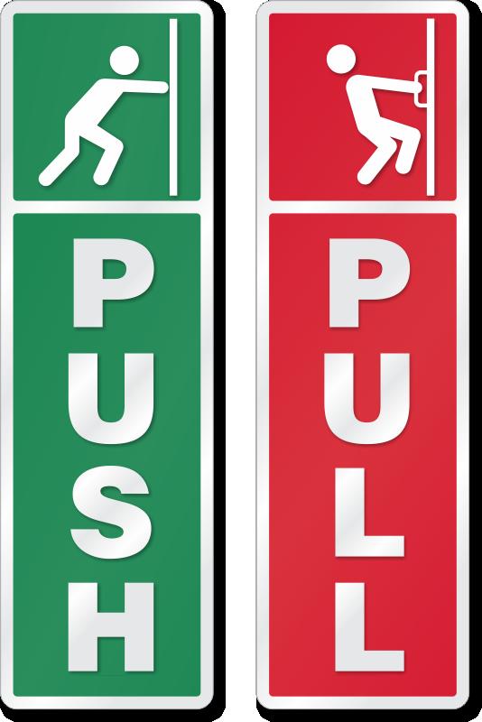 Push And Pull Logos