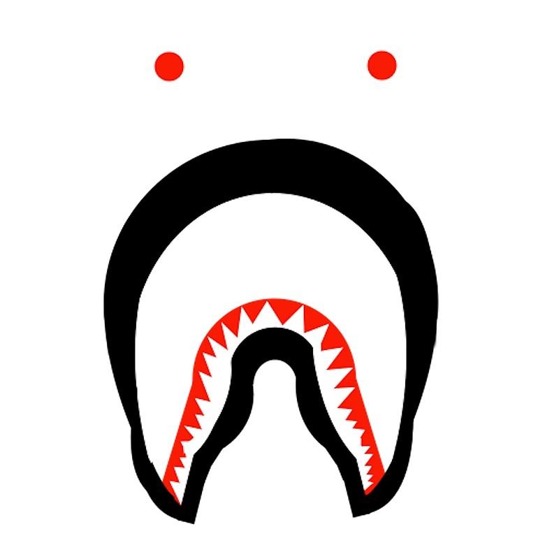 Bape Shark Logo Canvas S By Mihajlo Redbubble