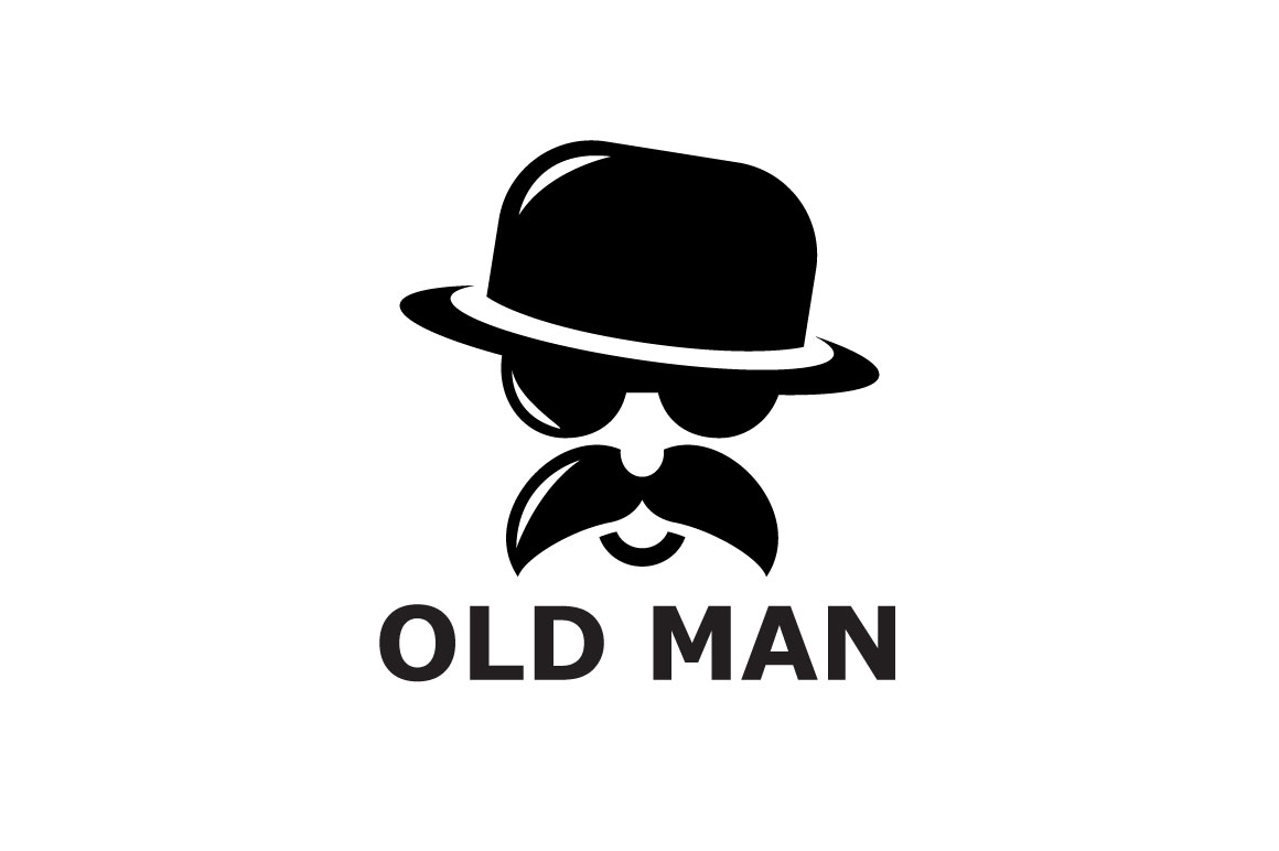 bfd6cd09cab Old Man Logo Template