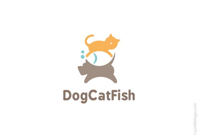 Cat dog Logos