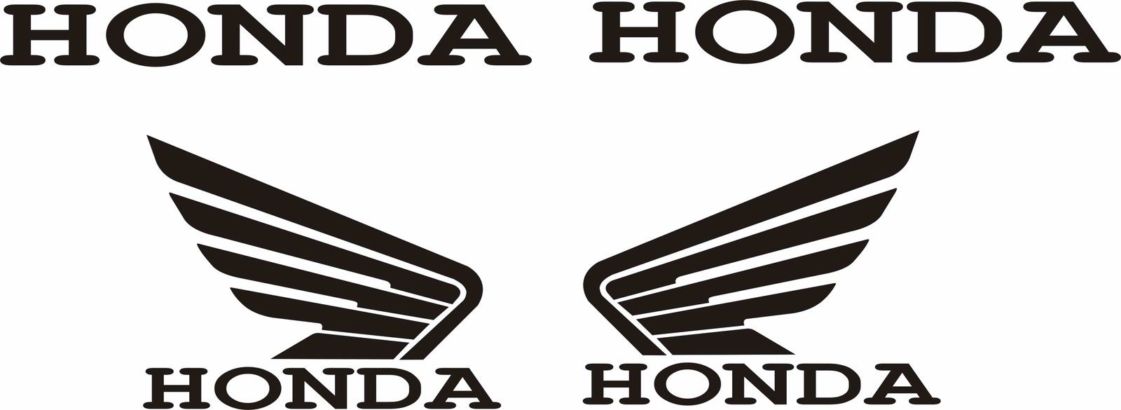 honda wing logos. Black Bedroom Furniture Sets. Home Design Ideas