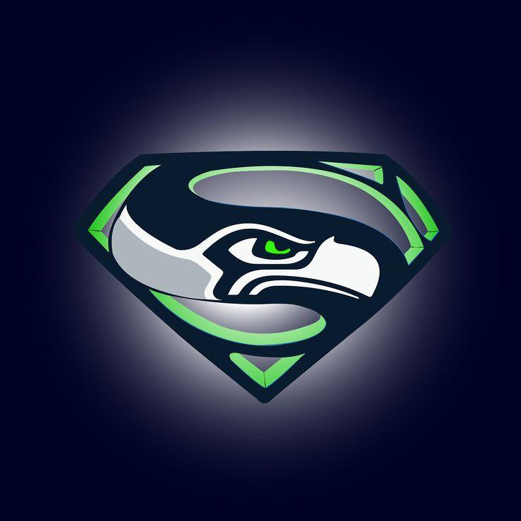 Seahawks Superman Logos
