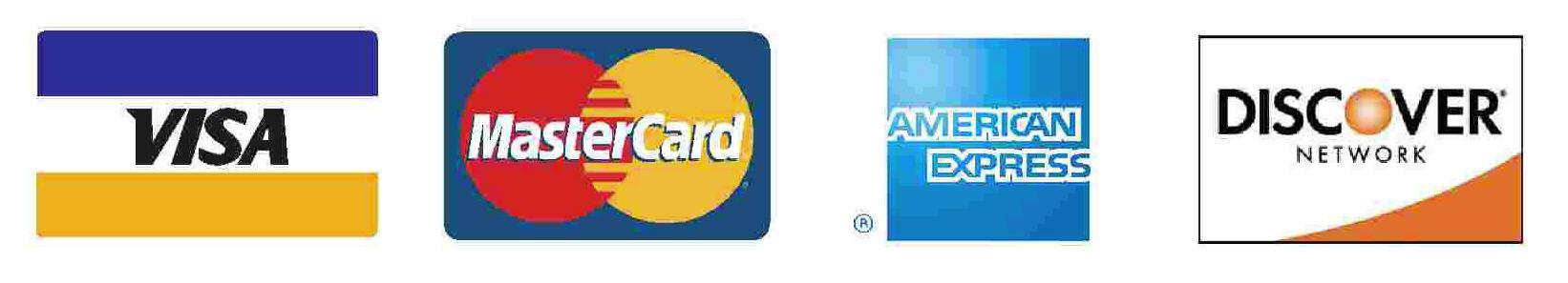 visa mastercard discover logos