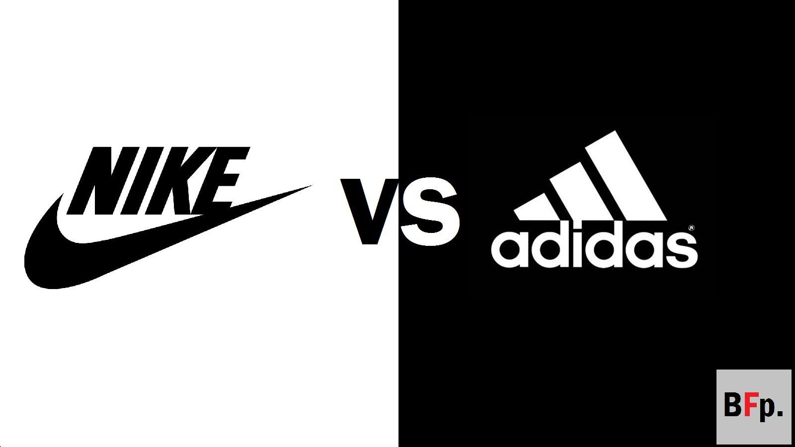 3760e0040b84 Nike vs adidas Logos