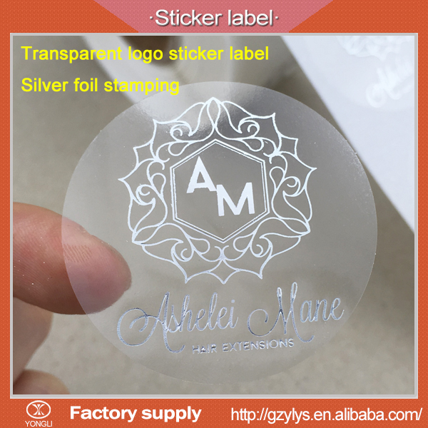 Clear stickers with Logos