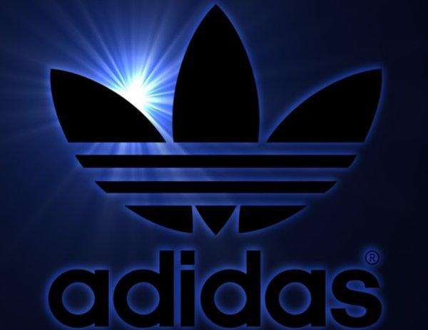Blue adidas Logos