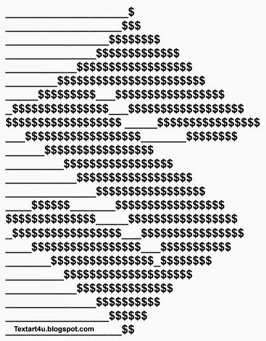 Art ascii text 1 Line