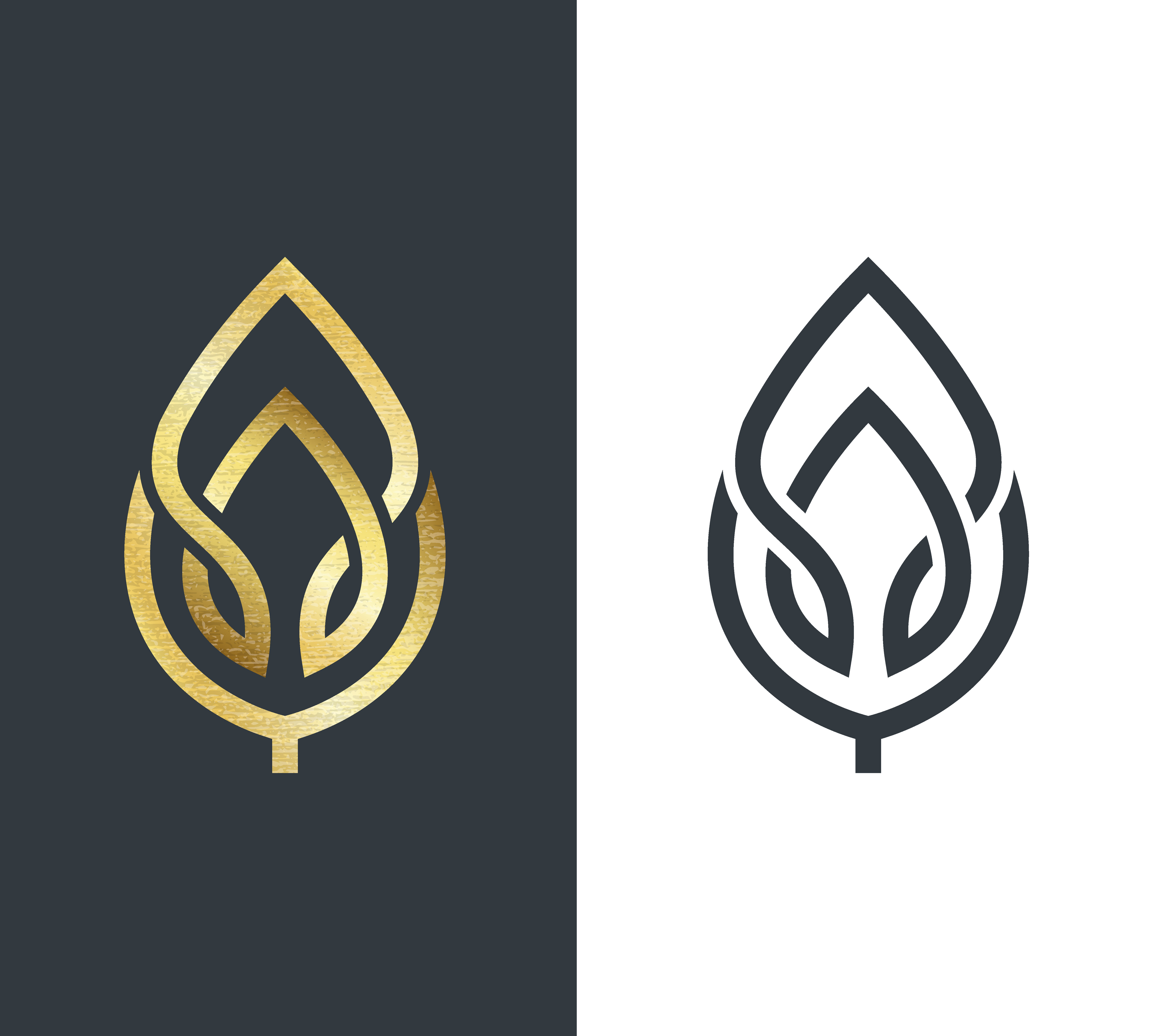 Black and gold Logos