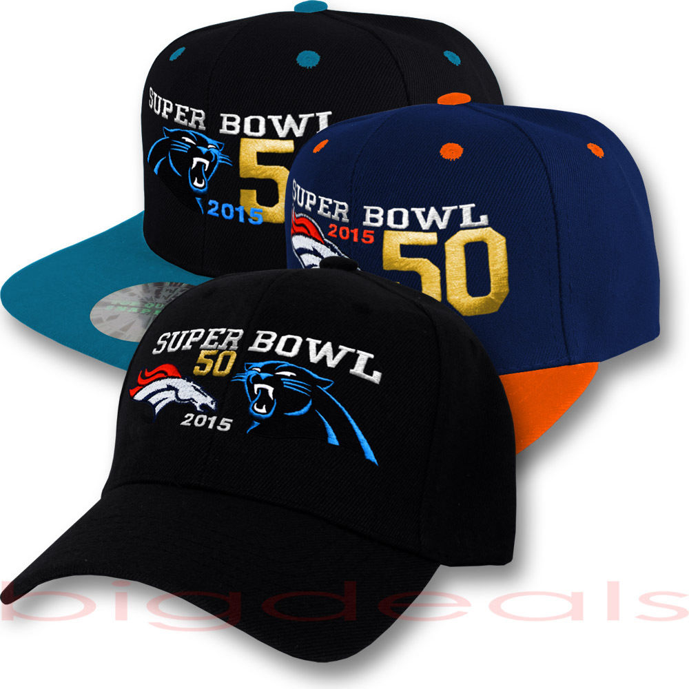 Carolina Panthers vs Denver Broncos Cap NFL Logo Hat . 3c354264bee7