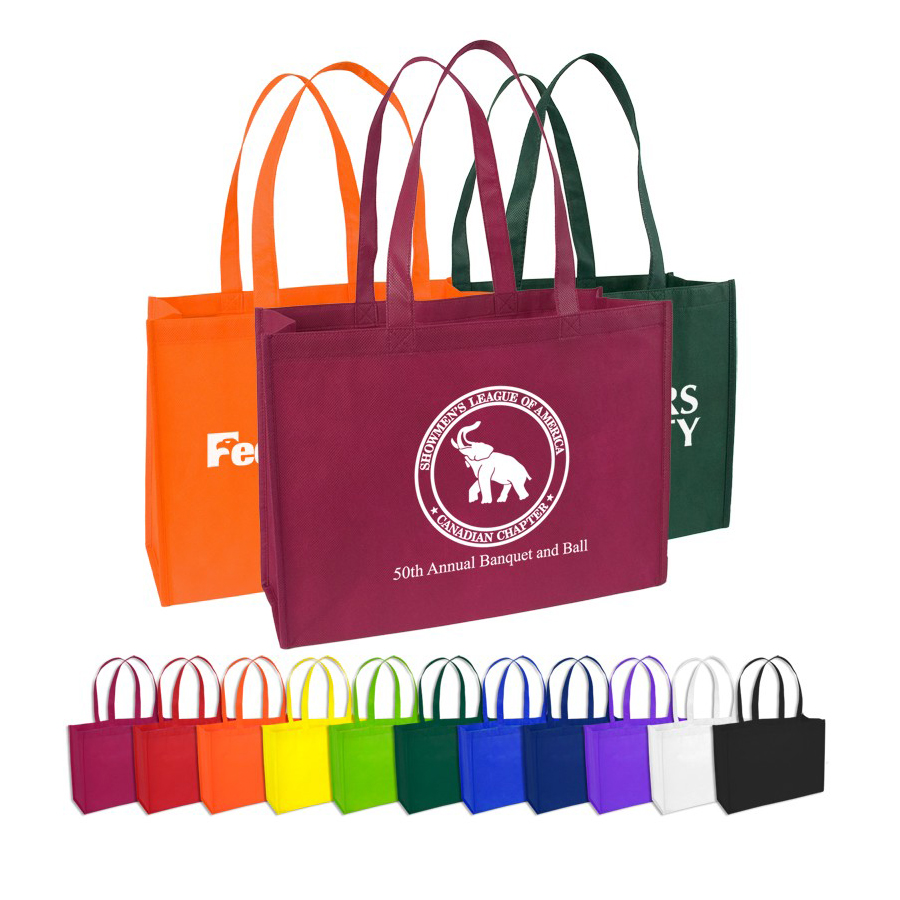 Custom Promotional Trade Show Tote Bags 16 W X 12 H