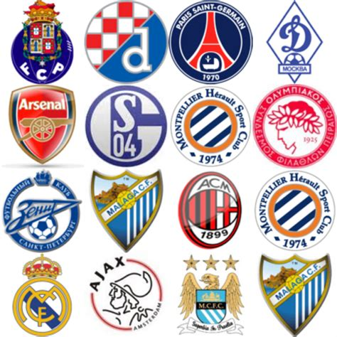 champions league team logos champions league team logos
