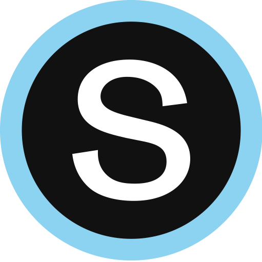 Schoology logo S with blue circle around it