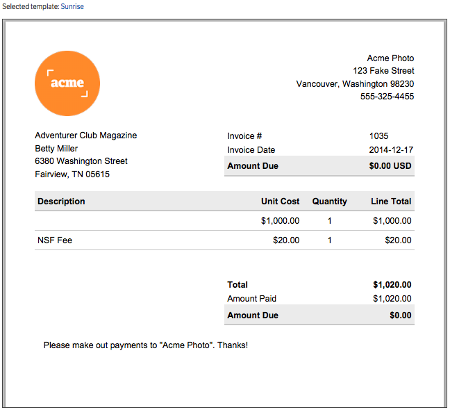 invoice template with logos