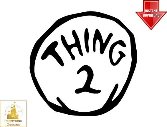 image about Thing 1 Logo Printable identify Issue 1 Trademarks