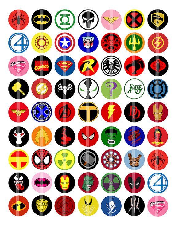 Marvel heroes Logos