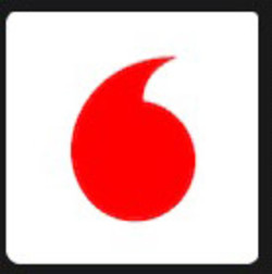 white circle with red comma inside logo alternative clipart design