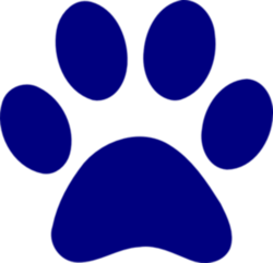 Dark Blue Paw Md Images At Clker Vector