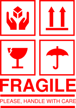 Fragile shipping Logos